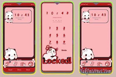 download tema oppo realme panda cute cartoon