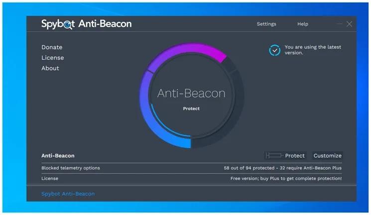 Spybot Anti-Beacon : Αποκλείστε την αποστολή δεδομένων του υπολογιστή σας στα Windows 10
