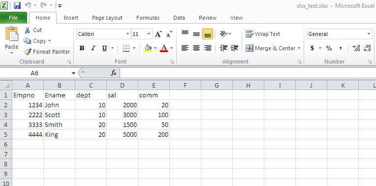 Read And Import XLSX (Excel) File In Oracle | Vinish