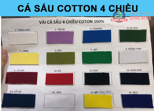 Bảng màu vải thun cá sấu cotton 4 chiều