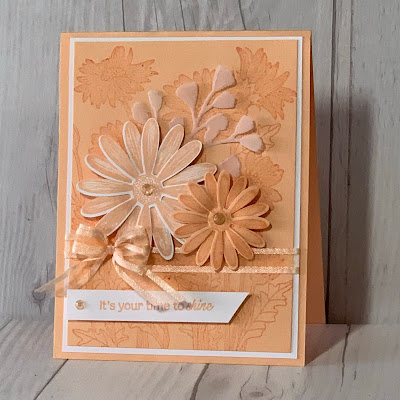 Daisy greeting card using Stampin' Up! Daisy Garden and Daisy Lane Stamp Sets