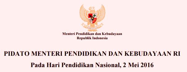 Download Pidato Mendikbud Pada Hari Pendidikan Nasional 2 ...