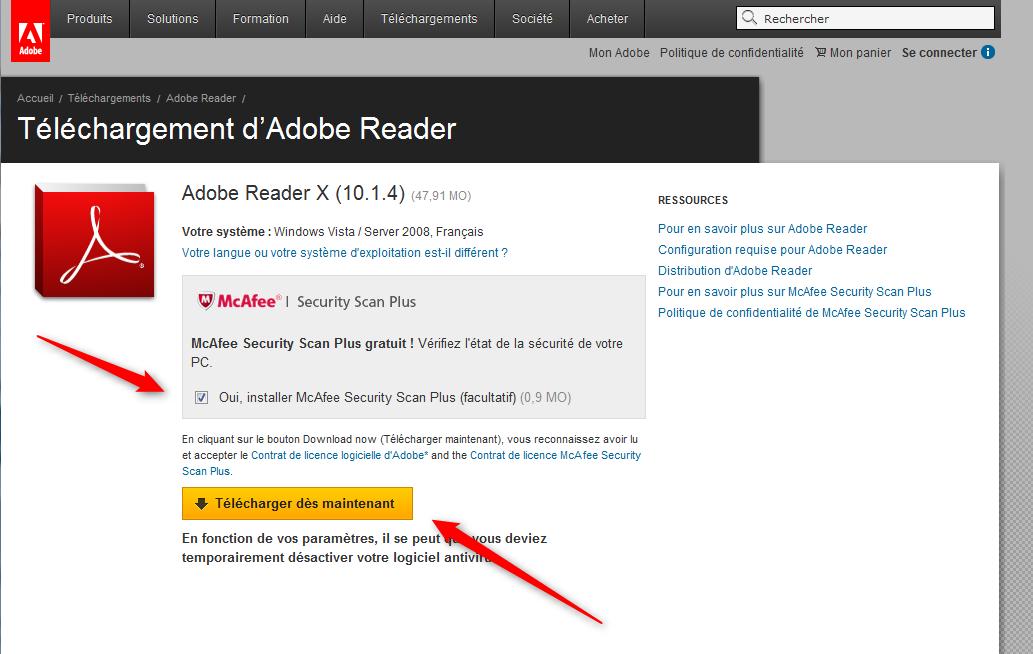 Adobe Reader est un lecteur de documents PDF gratuit et multiplateforme. Le format PDF est l'un des formats les plus répandus dans le monde de l'informatique. Ceci est du au fait que les fichiers PDF peuvent être lus sur pratiquement n'importe quel système informatique ( Windows , Mac , Linux , Android , iOS , etc.).
