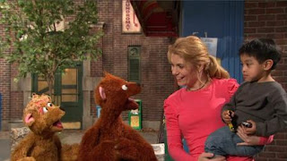 Gina, Marco, Baby Bear, Curly Bear, Sesame Street Episode 4416 Baby Bear's New Sitter season 44