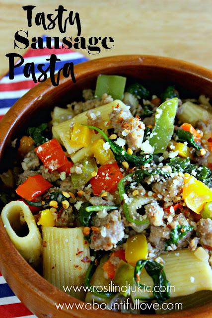 http://www.rosilindjukic.com/recipe/tasty-sausage-pasta/