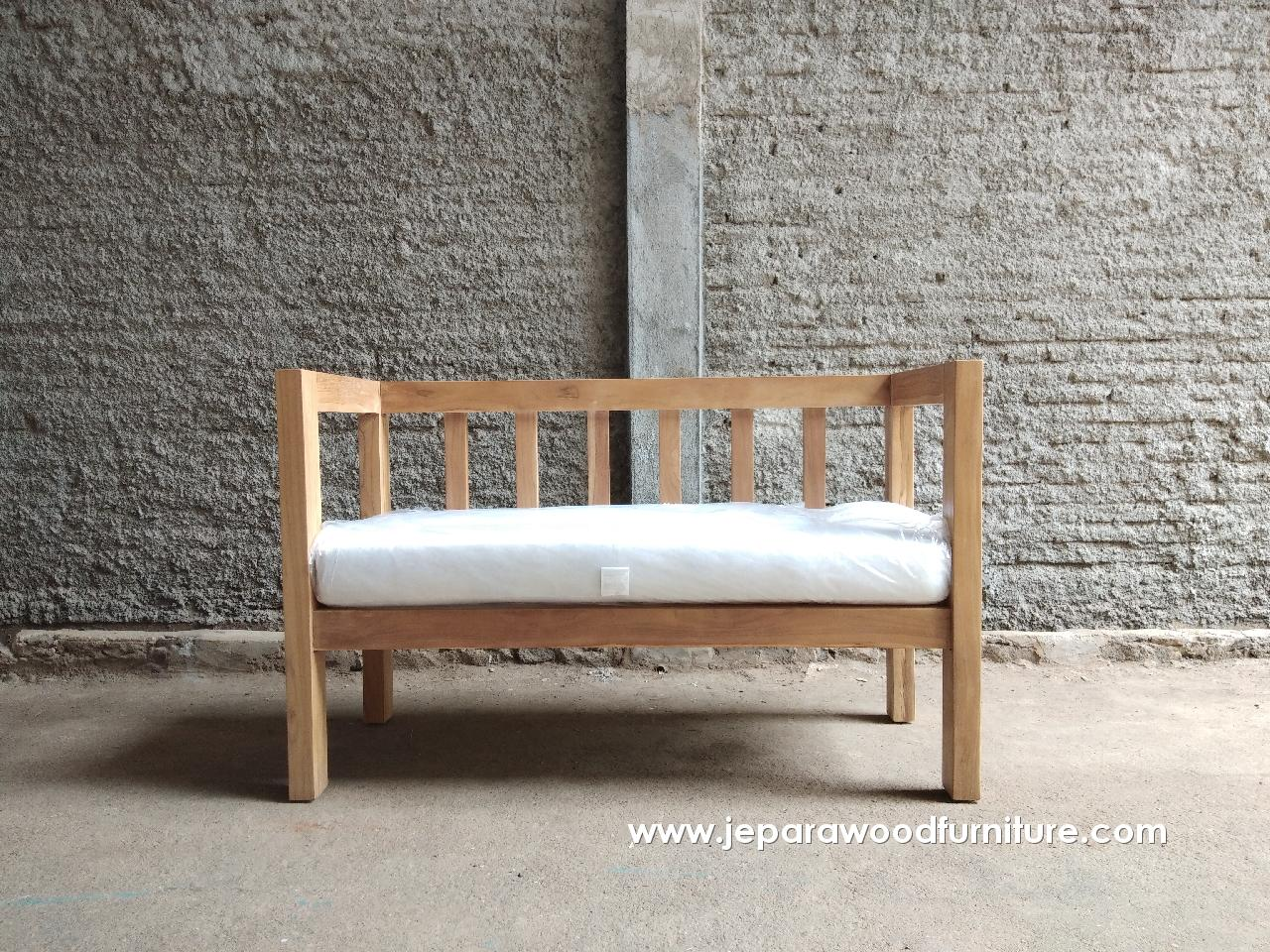 Teak Outdoor Sofa 2 Seater