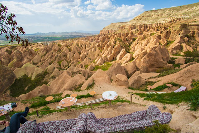 Kizilgukur seyir tepesi Red-Rose valley (panorama)-Cappadocia