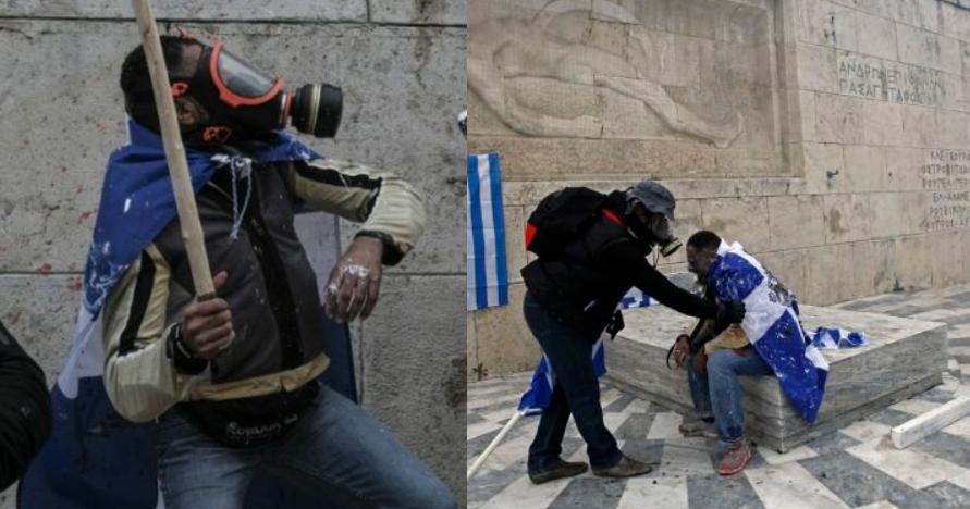 Ξεσπά ο διαδηλωτής που χαρακτηρίστηκε «Αφρικανός, Μπαγκλαντεσιανός»