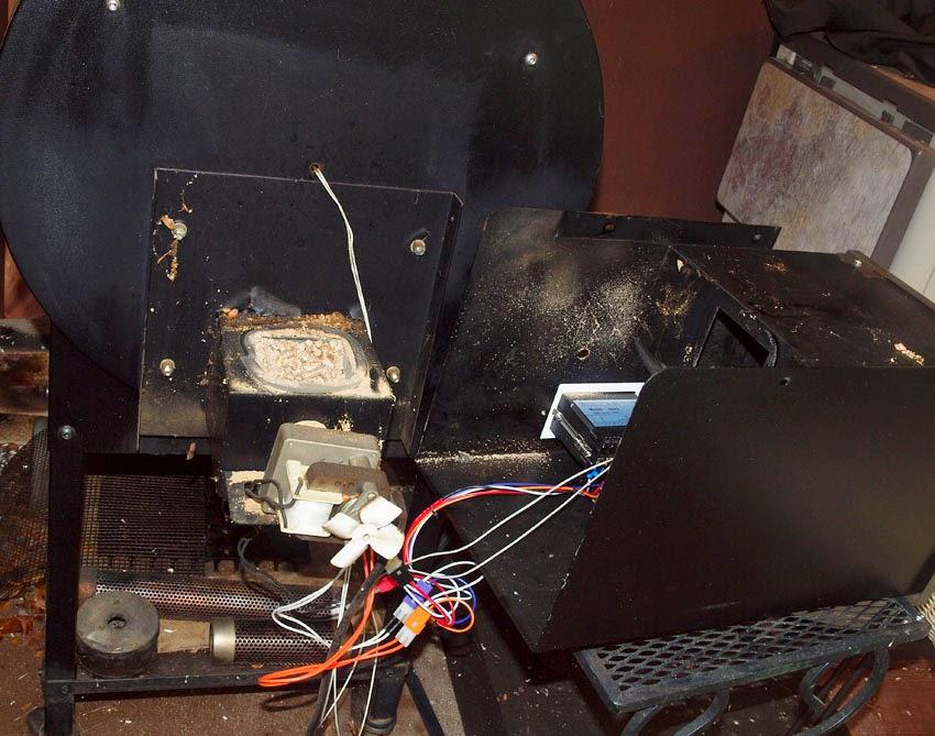 Pellet Smoker Cooking Installed A New Auger Motor