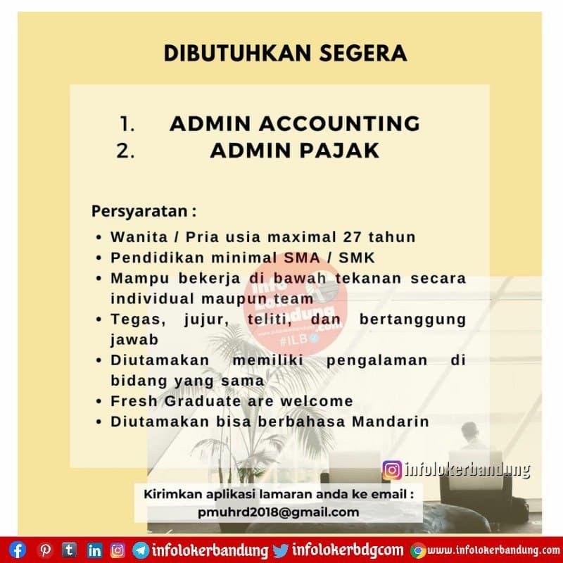Lowongan Kerja PT. Putra Martha Utama Bandung Maret 2021