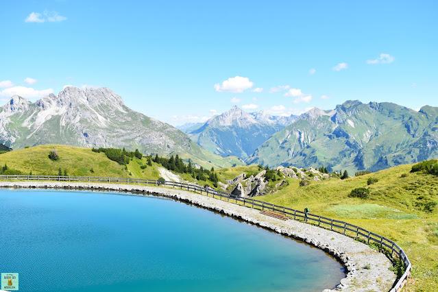 Lago Speichersee en Petersboden, Vorarlberg