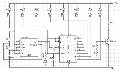 Running LED with 4017 - Electronic Circuit