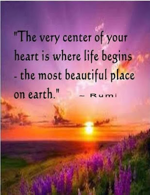 the very center of your heart is where life begins the most beautiful place on earth.