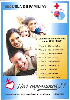 1-XII-19, tercer tema de la Escuela de Familias