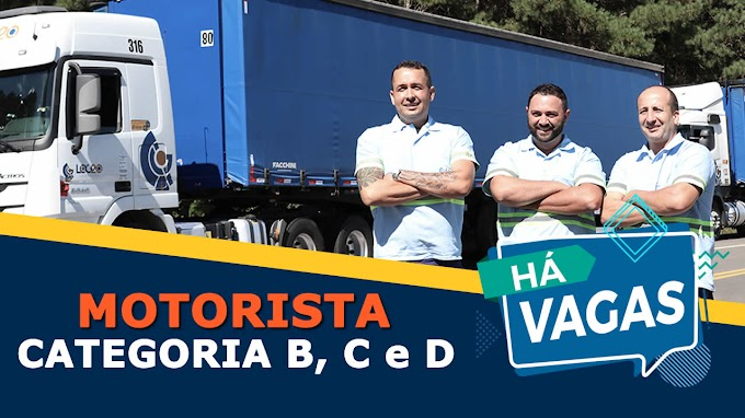 Transportadora Log20 abre vagas para motorista categoria B, C e D