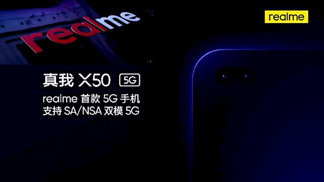 كشفت شركة  Realme عن خططها لإطلاق هواتف 5G في وقت سابق من هذا العام ، وأعلنت أيضًا إلى أنها ستكون من بين العلامات التجارية الأولى التي ستجلب هواتف 5G الجاهزة إلى السوق. كشفت شركة Realme الآن عن اسم أول هاتف 5G - Realme X50 - الذي سيتم إطلاقه قريبًا. سيقدم Realme X50 الدعم لشبكة NSA و SA 5G ذات الوضع المزدوج ، تمامًا مثل Redmi K30 5G القادمة. علاوة على ذلك ، سوف يثقب حفرة على شكل حبوب منع الحمل على الجبهة التي ستضم كاميرات مزدوجة صورة شخصية.