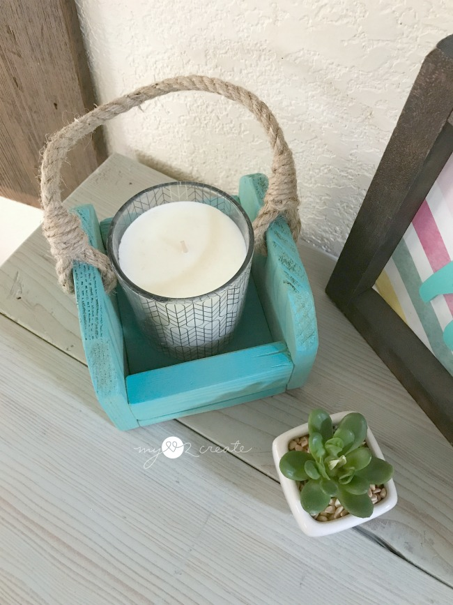 crate candle holder