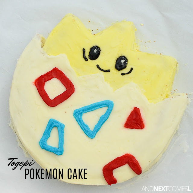 How to make a Togepi Pokemon birthday cake