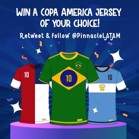 Sorteio de uma camisa de qualquer seleção da Copa América