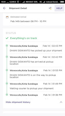 Tracking lewat aplikasi