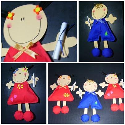 Muñecos De Papel Crepe Niños Egresados De Jardin Recrear