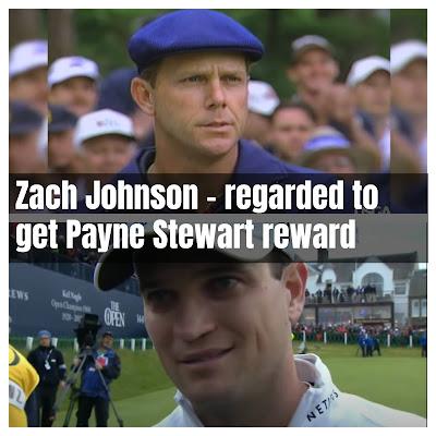 Zach Johnson - regarded to get Payne Stewart reward
