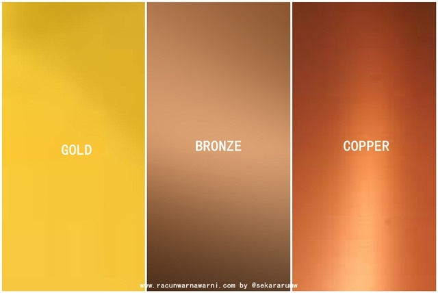 Gold vs Bronze vs Copper