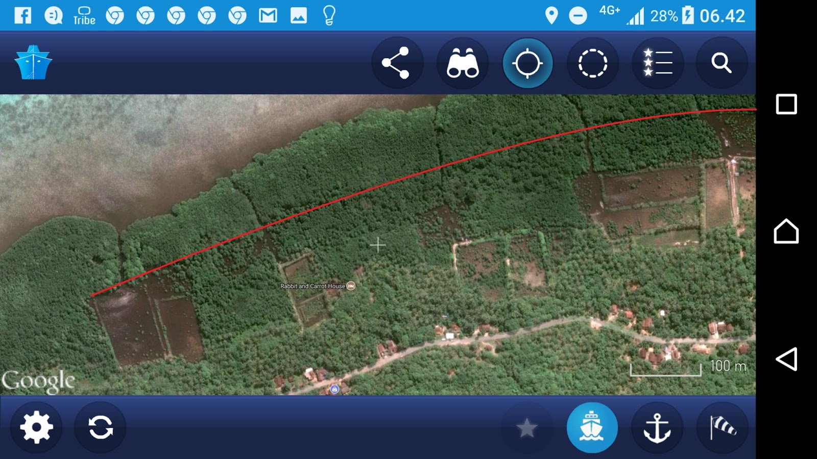 image 2 mangrove condition around rabbit and carol housed in cikmas red line marks the edge of previous ponds of period 1