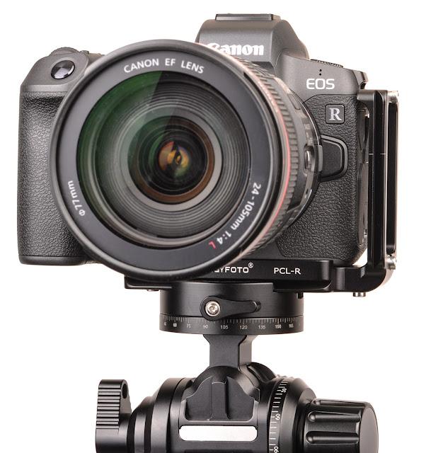 Sunwayfoto PCL-R L bracket on Canon EOS R