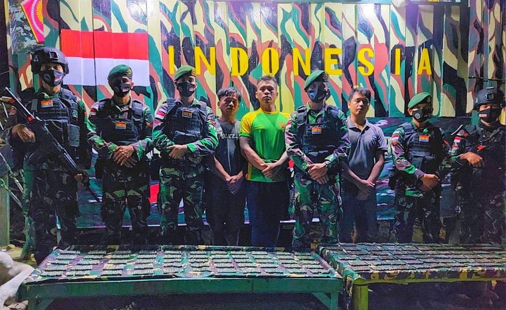 Satgas Pamtas Temukan Munisi Sisa Konfrontasi Indonesia-Malaysia