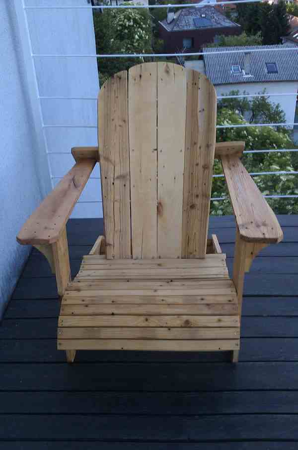 Used Wooden Pallets Furniture Adirondack Chair Made From
