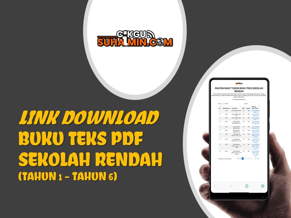 Link Download Semua Buku Teks PDF Sekolah Rendah