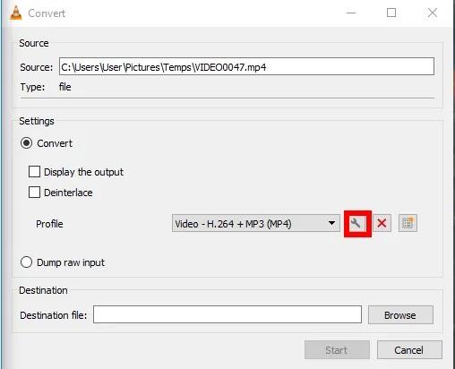 كيفية تدوير-save-vlc-video-create-profile