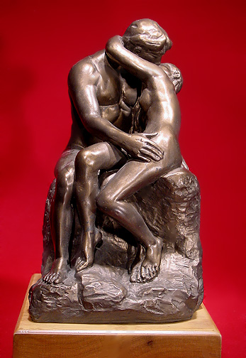 The Kiss - Auguste Rodin's most famous works, originally named Francesca da Rimini