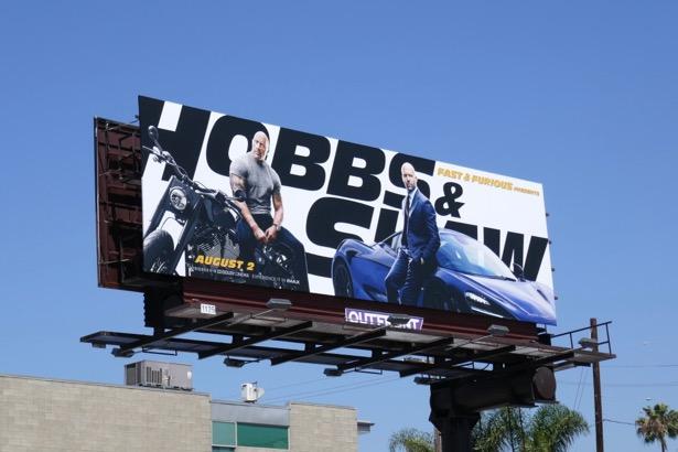 Hobbs Shaw movie billboard