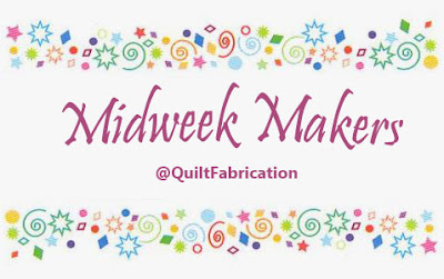 Midweek Makers banner with stars and diamonds