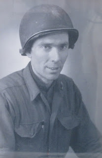 Julian Moody as a Private in World War II