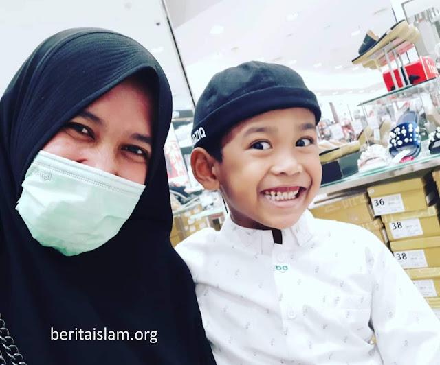istri ustadz Abdul Somad dan Anaknya