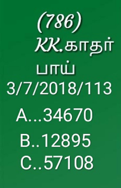 kerala lottery abc guessing by KK sthree sakthi ss-113 on 03-07-2018