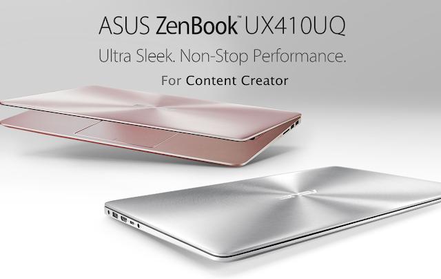 ASUS ZenBook UX410UQ Laptop Para Content Creator dan Video Creator
