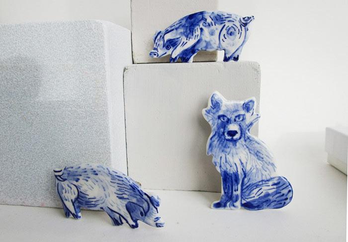 Artista abandona su aburrido trabajo para esculpir estos animales de porcelana utilizables