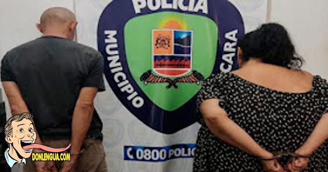 Pareja detenida en Guacara por cometer actos lascivos con tres menores de edad