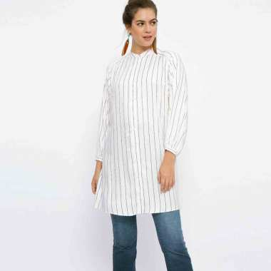 Minimal Batwing Slv Dress Trisa Stripe Tunik
