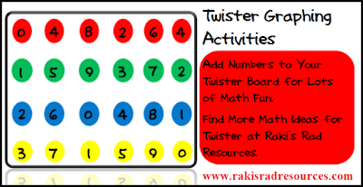 Free twister graphing activity for your math class from Raki's Rad Resources.