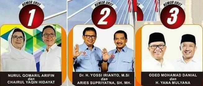 Tiga Pasang Calon Walikota dan Wakil Walikota Bandung 2018