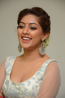 Anu Emmanuel in a Transparent White Choli Cream Ghagra Stunning Pics 091.JPG