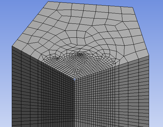 mesh with SPHERE OF INFLUENCE in ansys