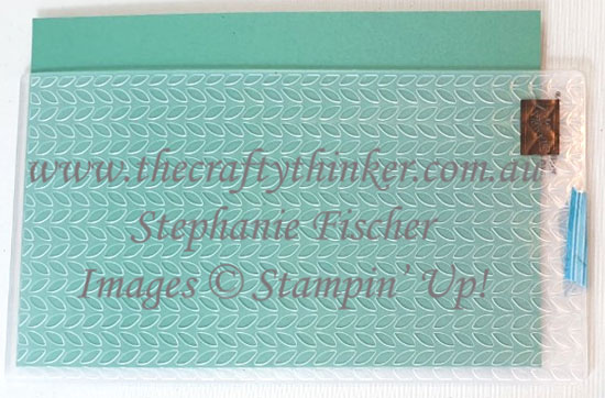 #thecraftythinker #stampinup #cardmaking #embossingtechniques #greenery #2020cataloguesneakpeek , sneak peek 2020 annual catalogue, Greenery embossing folder, How to enlarge embossing pattern, Stampin' Up