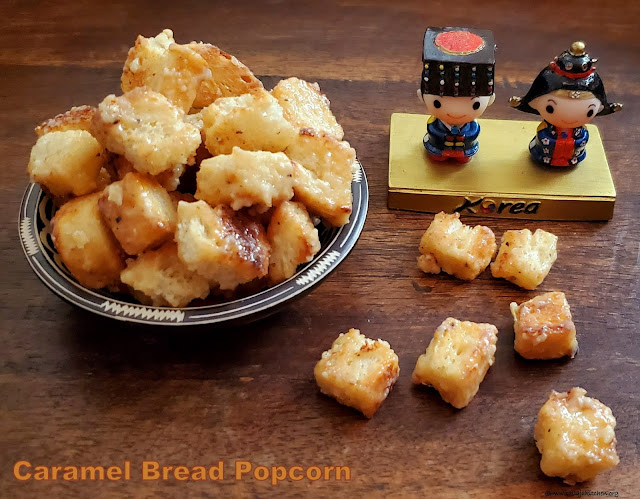 images of Caramel Bread Popcorn / Bread Popcorn - A Korean Snack