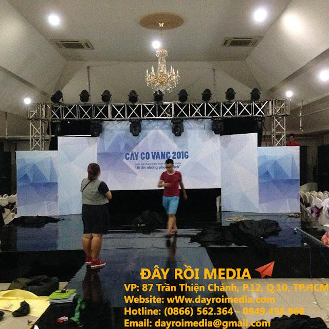 Thi công backdrop sân khấu chương trình [Cây Cọ Vàng 2016]